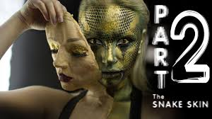 shedding snake human makeup tutorial part 2 youtube