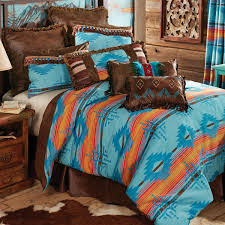 turquoise and brown western bedding home decoration ideas