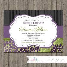 elegant bridal shower invitations printable floral bridal shower