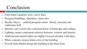 Architect Signature Presentation On Architect Zaha Hadid And Her Work