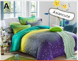 asiancute dreaming galaxy bed set four piece asian cute kawaii