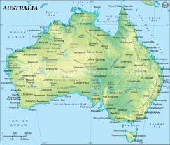 austrelia map map of australia continent new zone