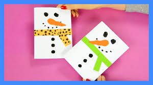 snowman christmas card craft for kids youtube