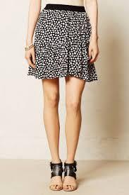 maeve clothing maeve anthropologie black white paulista button print ruffle mini