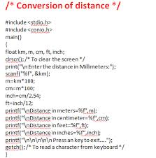 Feet In Meter Write A C Program To Calculate The Distance Between Two Cities