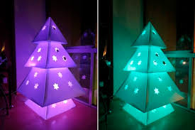 philips hue christmas lights diy makedo cardboard christmas tree home design garden