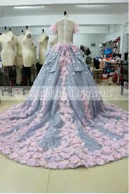 big wedding dresses pretty gown wedding dress with flowers backless wedding