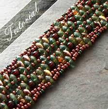 beading bracelet patterns images Beading tutorial twin bead bracelet pattern super duos jpg