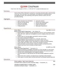 Resume Samples Livecareer by Police Officer Resume Cryptoave Com
