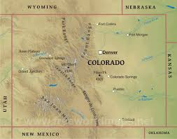 Aurora Colorado Map by Physical Map Of Colorado