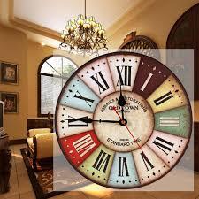 Grande Horloge Murale Carrée En Bois Vintage Achat 2017 En Vente Nouveau Meilleur Bois Horloge Murale Vintage Quartz