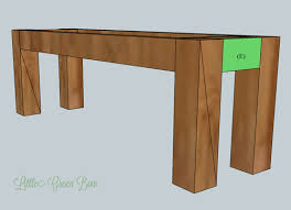 build a bench for dining table pottery barn inspired diy dining bench plans