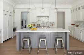 white kitchen cabinets grey island two tone kitchen cabinets to inspire your next redesign