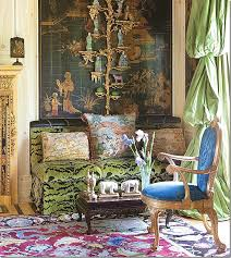 Home Interior Tiger Picture Image Christopher Hyland Green Silk Velvet Tiger Fabric For