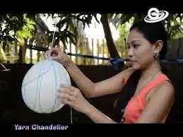 String Chandelier Diy Diy Do It Yourself Yarn Chandelier Youtube