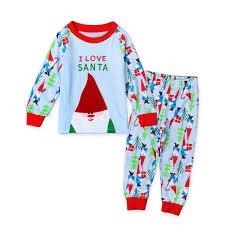 2017 new pyjamas childrens pyjamas santa claus deer