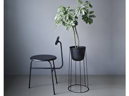 buy the menu wire plant pot black at nest co uk