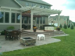 Concrete Patio Color Ideas by Nucrete U2013 Stamped Concrete Patio With Pergola Backyard Living