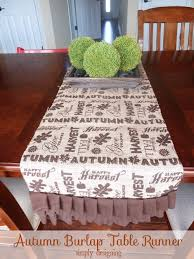 Fall Table Runners by Autumn Harvest Burlap Table Runner Turkeytablescapes