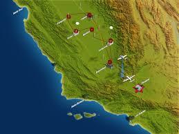 Flight Path Map Map Of The California 2013 Campaign Nasa