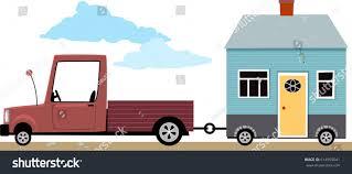 track hauling little house on wheels stock vector 614955041 track hauling a little house on wheels eps 8 vector illustration