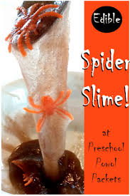 edible spider slime kitchen chemistry for kids preschool powol