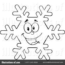 snowflake clipart 1220436 illustration by hit toon