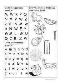 12 free esl beginning letter worksheets