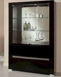 adriana modern black buffet with mirror 44dadrbm