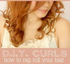 cute girl hairstyles rag curls d i y curls how to rag roll your hair a beautiful mess
