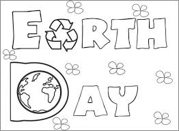 earth day coloring page earth day flower coloring pages for kids