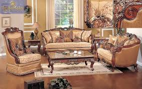 Gold Fabric Sofa Denmark Sofa In Olive Copper Fabric Cherry With Gold Wood Trim