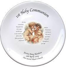 boys communion gifts personalised cherubs 1st holy communion plate with poem communion