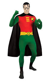 halloween morph costumes amazon com dc comics robin 2nd skin zentai super suit