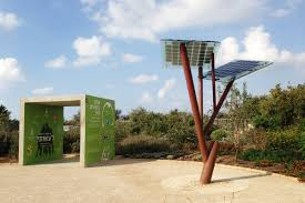 israel s solar powered trees for smartphones and community