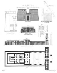 plan section and elevations of the temple of apollinopolis magna