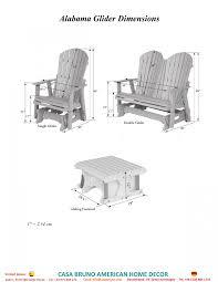 Outdoor Single Glider Chair Alabama Glider Sessel Aus Den Usa Weiss Casa Bruno Ceiling