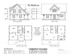 cape floor plans post beam home plans in vt timber framing floor plans vt frames