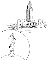 nebraska state capitol building kids stuff coloring page