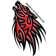 wolf tribal style design at vectorportal