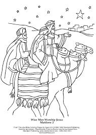 Wise Worship Coloring Page Wise Men Worship Jesus Coloring Page