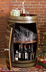 wine barrel bar table and many other diy furniture the one from