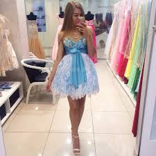 college graduation dresses beaded lace blue homecoming dresses empire pretty