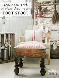 vintage soda crate turned foot stool prodigal pieces