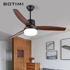 52 Ceiling Fan With Light Botimi 52 Inch Led Ceiling Fan Ventilador De Techo Living Room Fan