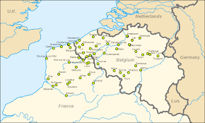 France Germany Map by Belfries Of Belgium And France Wikipedia
