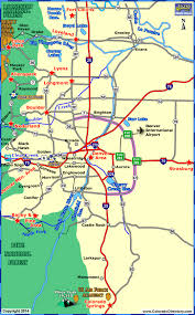 map of colorado by population towns within one hour drive of denver area colorado vacation