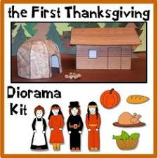 construct a clever with this thanksgiving diorama
