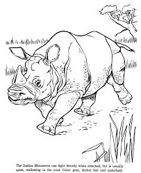 coloring pages animal drawings coloring pages indian rhinoceros