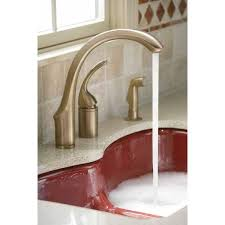 kohler brushed nickel kitchen faucet kohler faucet k 10430 bn forte vibrant brushed nickel one handle